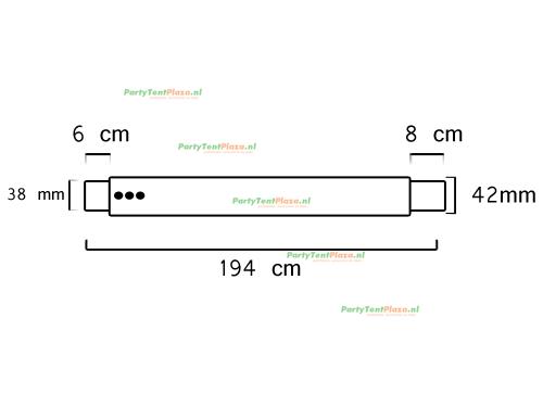 buis lengte: 1.94 m (42 mm)
