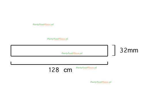 buis lengte: 128 cm (32 mm)