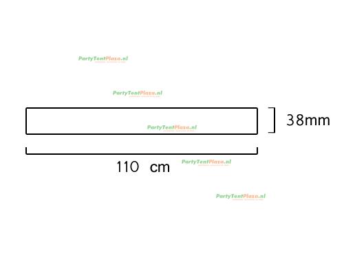 buis lengte: 1.10 m (38 mm)