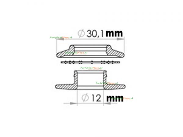 ring met elastiek bevestigingsmateriaal