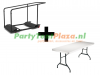 combi trolley Lifetime multifunctioneel + 11x buffettafel 180 cm heavy duty