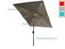 SORARA Solar Parasol Ø270cm met LED verlichting INCLUSIEF beschermhoes