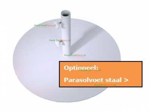 Klik hier voor parasolvoet staal optioneel