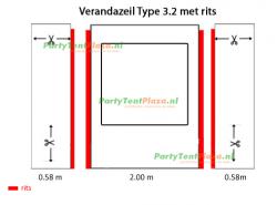 verandazeil Type 3.2 met rits