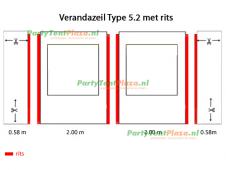 verandazeil Type 5.2 met rits
