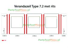 verandazeil Type 7.2 met rits