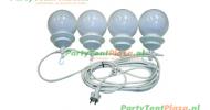 lichtbol tros van 4 stuks (voor pagodetent of vouwtent)