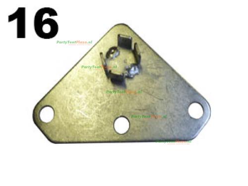 voetplaat Silver (nr 16)