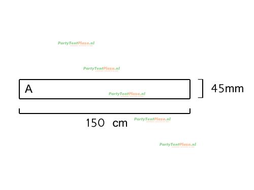 buis lengte: 1.50 m (45 mm)