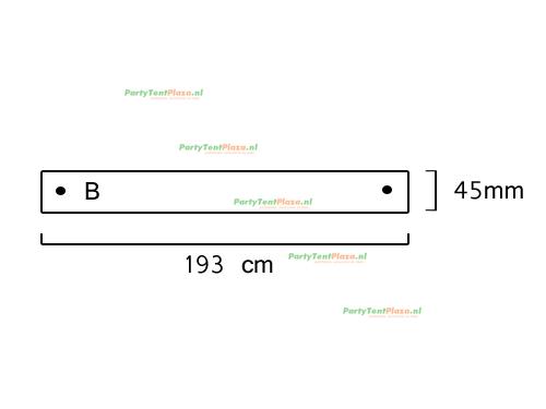 buis lengte: 1.93 m (45 mm)