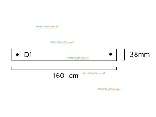 buis lengte: 1.60 m (38 mm)