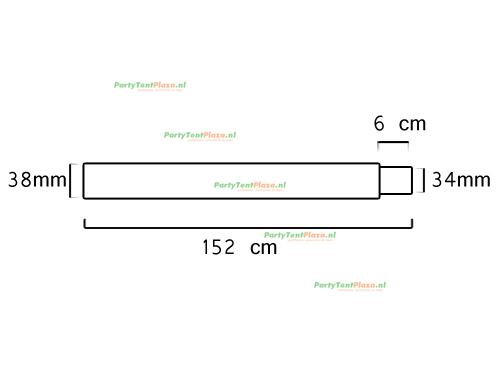buis lengte: 1.52 m (38 mm)