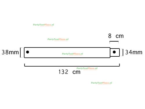 buis lengte: 1.32 m met verjonging (38 mm)