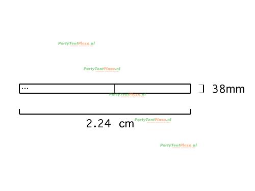 buis lengte: 2.24 m (38 mm)