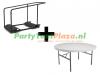 combi trolley Lifetime multifunctioneel + 10x buffettafel rond heavy duty