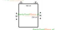 restpaneel 250 cm x 160 cm PVC wit