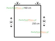 restpaneel 250cmx160cm PVC wit