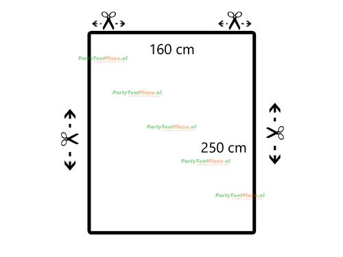 restpaneel PVC 250 cm x 160 cm