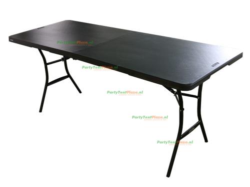 buffettafel 180 cm opklapbaar zwart