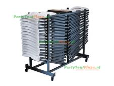 combi trolley Lifetime + 32 stoelen inklapbaar