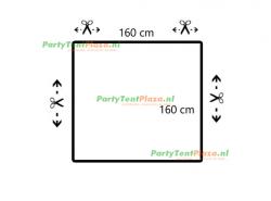 restpaneel PVC 160cmx160cm