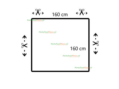 restpaneel PVC 160 cm x 160 cm