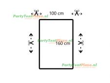 restpaneel 100cmx160cm PVC wit