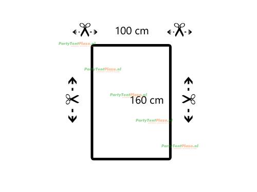 restpaneel PVC 100 cm x 160 cm