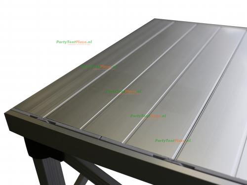 scharniertafel aluminium - 186 x 58 cm incl. rok