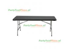 buffettafel Heavy Duty 180cm zwart stapelbaar