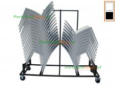 combi trolley + 40x stoel Sol stapelbaar