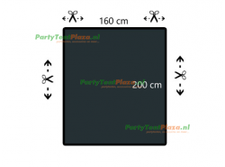 restpaneel 200cmx160cm PVC  antraciet