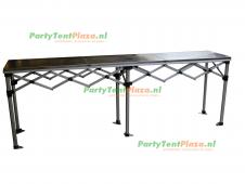 scharniertafel aluminium  281x58cm RVS blad