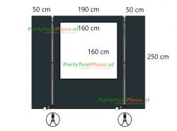 verandazeil Zip & Fit - Type C set antraciet
