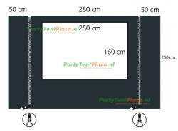 verandazeil Zip & Fit - Type E set antraciet
