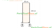 verandazeil Zip & Fit - deur 80 cm off white