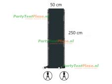verandazeil Zip & Fit - passtuk 50cm antraciet