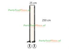verandazeil Zip & Fit - passtuk 25cm off white