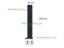 verandazeil Zip & Fit - passtuk 25cm antraciet
