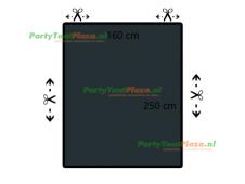 restpaneel 250cmx160cm PVC antraciet