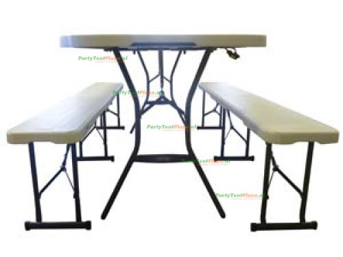 tafel en 2 banken opklapbaar
