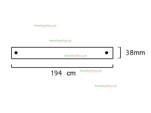 buis lengte: 1.94 m (38 mm)