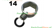 ring met borgpen Platinum (nr 9)