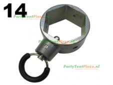 ring met borgpen Platinum (nr 14)