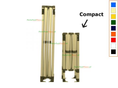 3 x 3 Easy Up Compact inclusief zijwanden
