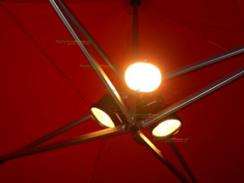 Easy Up tent verwarming + verlichting COMBI