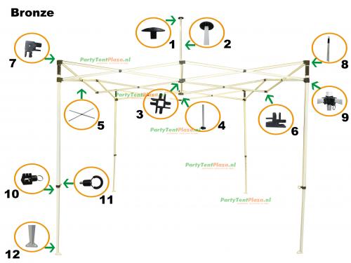 schuifkoppeling Bronze (nr 9)