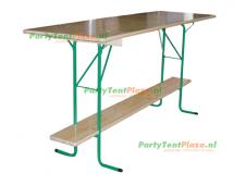 statafel hangtafel hout 220cm