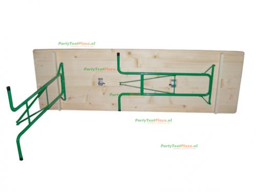 statafel hangtafel hout 220 cm