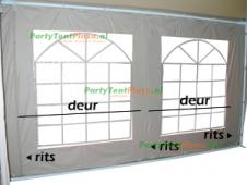 zijwand raamzijde 4m polyester - pagode 4x4